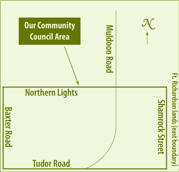 Scenic Foothills Community boundaries map